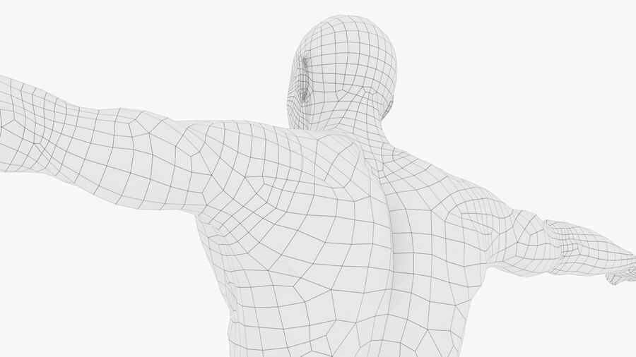 Bill Nude Man royalty-free 3d model - Preview no. 52