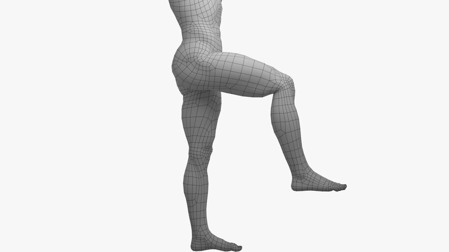Bill Nude Man royalty-free 3d model - Preview no. 48