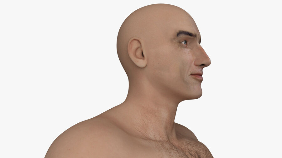 Bill Nude Man royalty-free 3d model - Preview no. 21