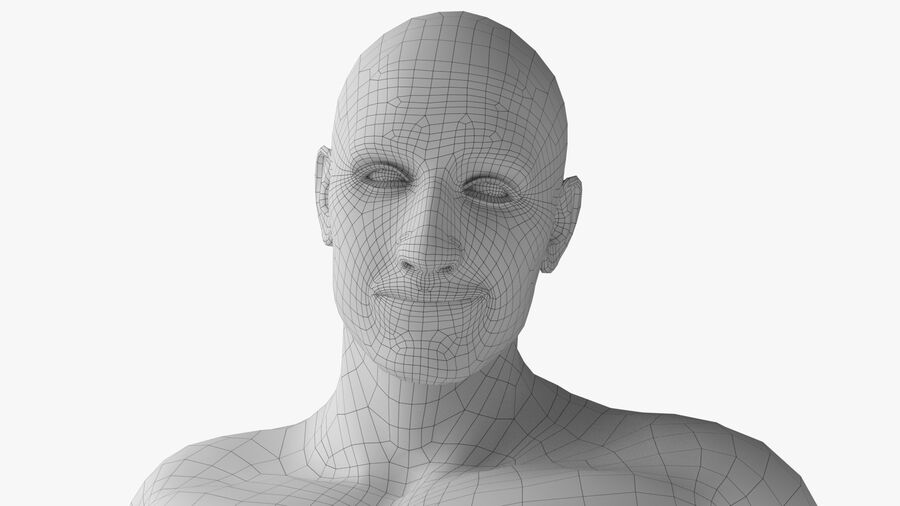 Bill Nude Man royalty-free 3d model - Preview no. 14