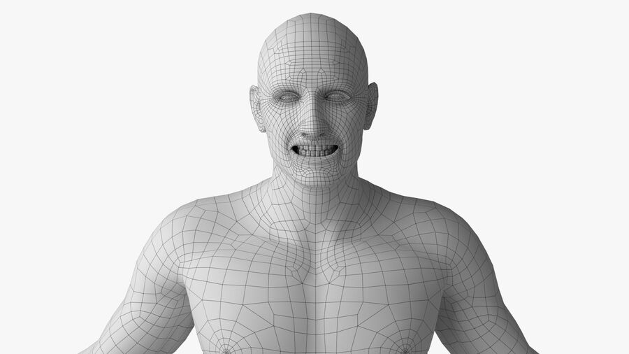 Bill Nude Man royalty-free 3d model - Preview no. 28
