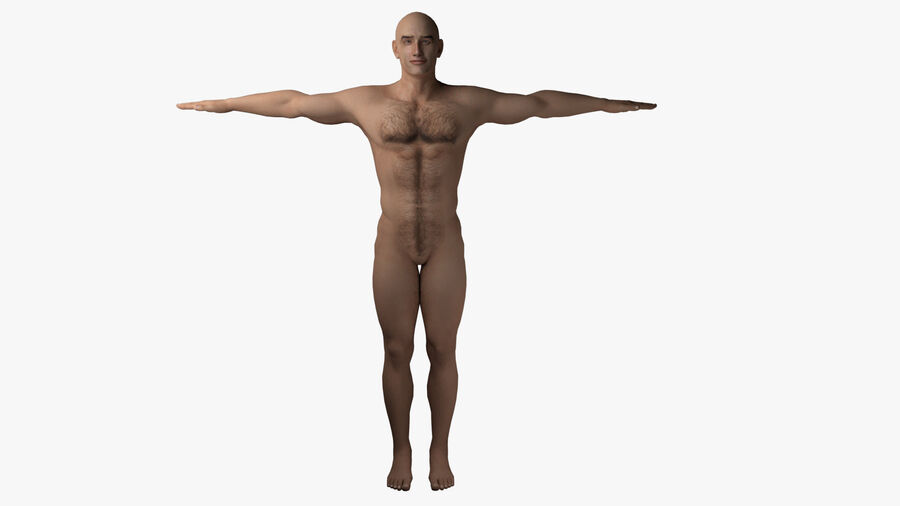 Bill Nude Man royalty-free 3d model - Preview no. 3