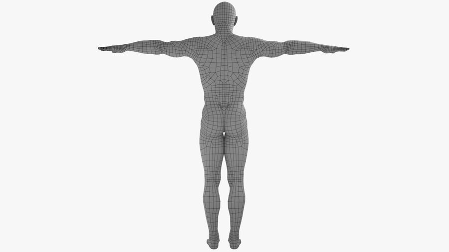 Bill Nude Man royalty-free 3d model - Preview no. 6