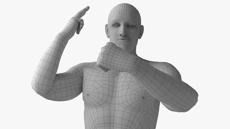Bill Nude Man royalty-free 3d model - Preview no. 16