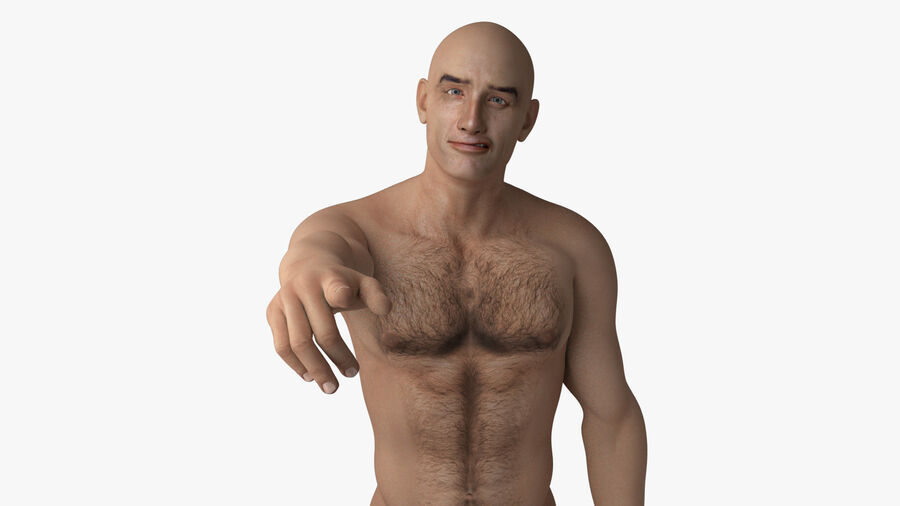 Bill Nude Man royalty-free 3d model - Preview no. 33