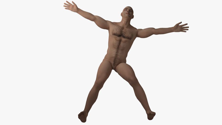 Bill Nude Man royalty-free 3d model - Preview no. 29