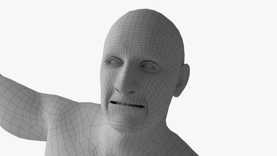 Bill Nude Man royalty-free 3d model - Preview no. 32