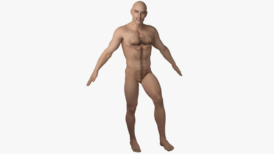 Bill Nude Man royalty-free 3d model - Preview no. 17