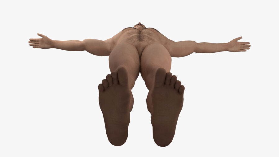 Bill Nude Man royalty-free 3d model - Preview no. 9