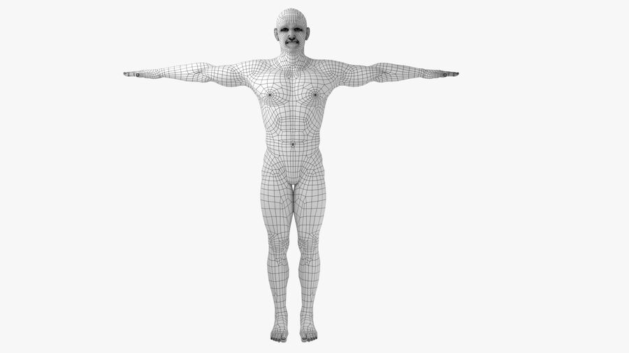 Bill Nude Man royalty-free 3d model - Preview no. 4
