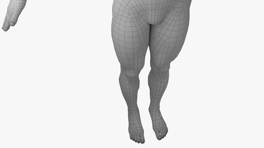 Bill Nude Man royalty-free 3d model - Preview no. 26