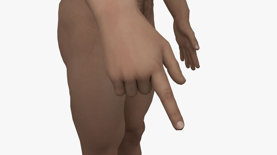Bill Nude Man royalty-free 3d model - Preview no. 37