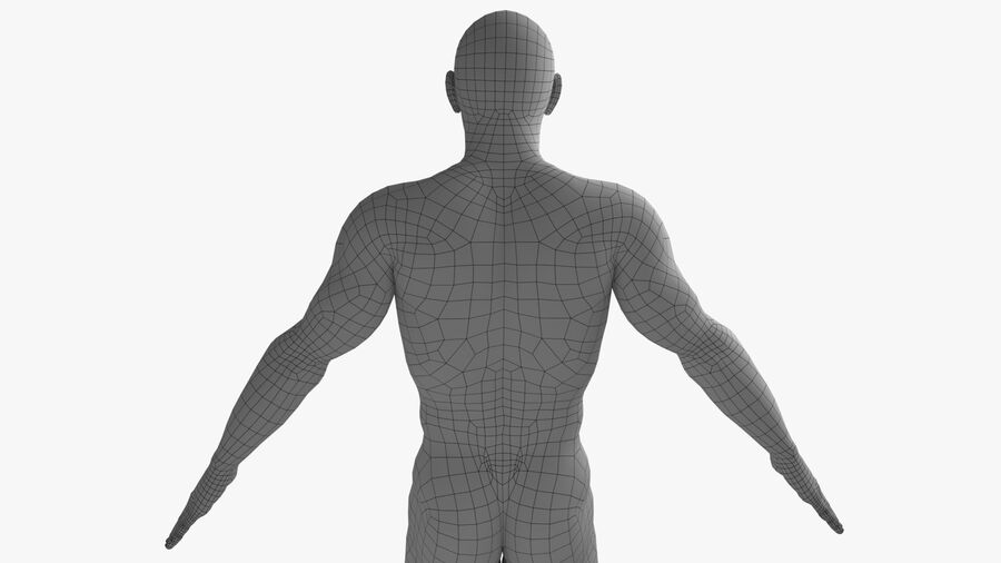 Bill Nude Man royalty-free 3d model - Preview no. 24