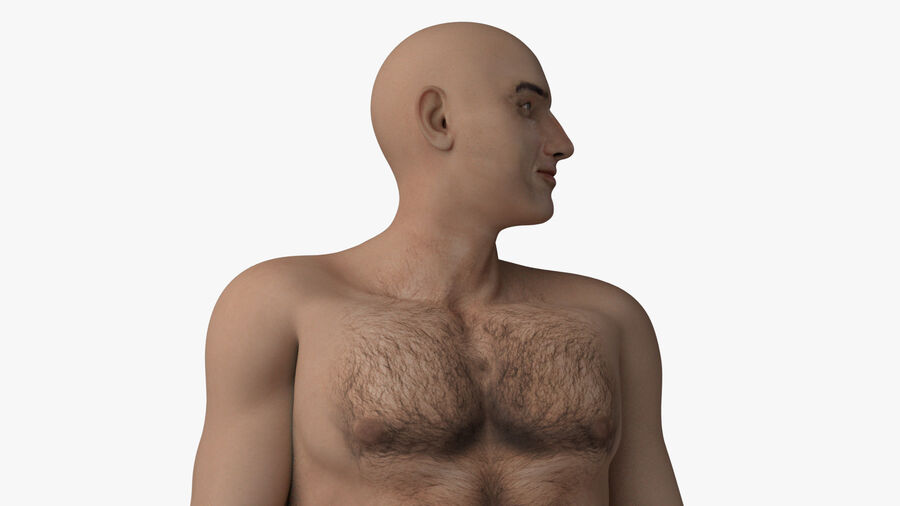 Bill Nude Man royalty-free 3d model - Preview no. 49