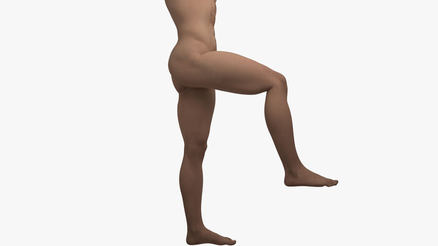 Bill Nude Man royalty-free 3d model - Preview no. 47