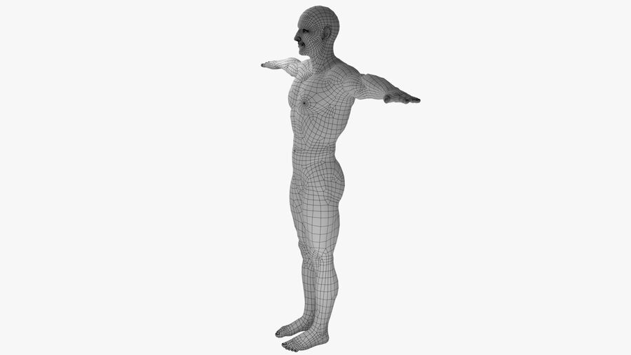 Bill Nude Man royalty-free 3d model - Preview no. 8