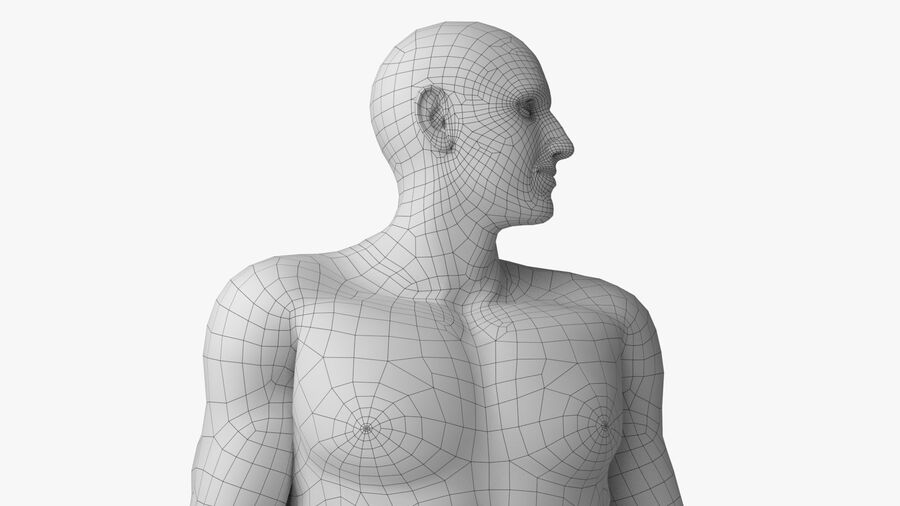 Bill Nude Man royalty-free 3d model - Preview no. 50