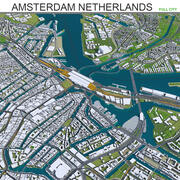 Città di Amsterdam nei Paesi Bassi 3d model