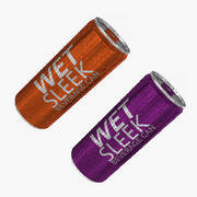330ml 10oz Wet Sleek Beverage Can Collection 3d model