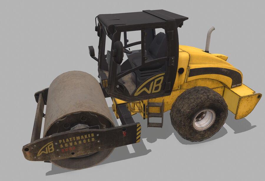 Macchine da cantiere royalty-free 3d model - Preview no. 7