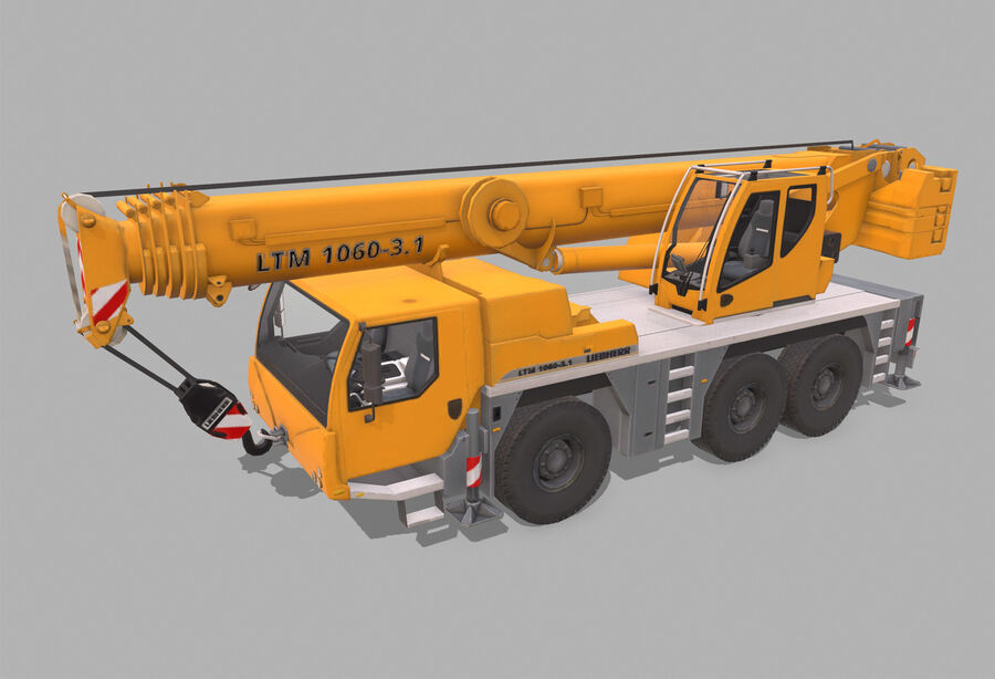 Macchine da cantiere royalty-free 3d model - Preview no. 10