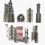 Módulos de refinería modelo 3d