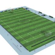 Soccer Field High Detail 3d model