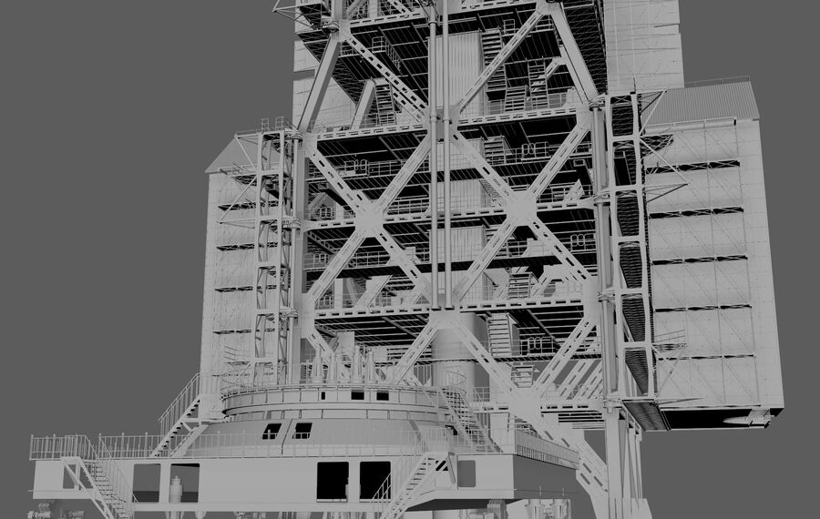 Wyrzutnia rakiet royalty-free 3d model - Preview no. 6