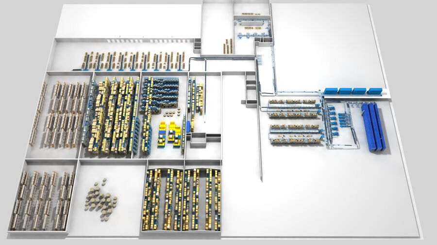 Sorting storage royalty-free 3d model - Preview no. 18