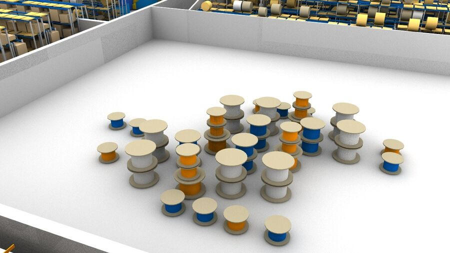 Sorting storage royalty-free 3d model - Preview no. 11