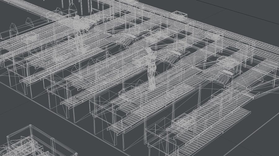 Sorting storage royalty-free 3d model - Preview no. 23