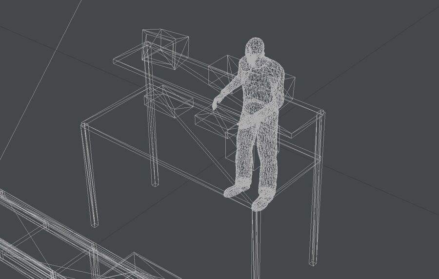 Sorting storage royalty-free 3d model - Preview no. 22