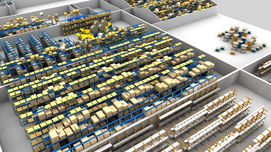 Sorting storage royalty-free 3d model - Preview no. 10