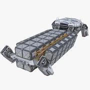 Sci-fi Cargo Ship Spaceship 3d model