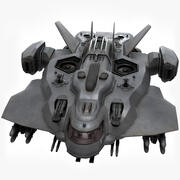 Sci Fi 수송선 3d model