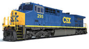 Diesel Locomotive CSX 3d model