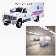 EMS Ambulance and Isolation Ward 3d model