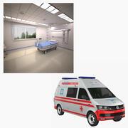 European Ambulance & Hospital ward 3d model