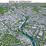 Город Берлин в Германии 3d model