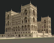 Palazzo del governo a Baku 3d model