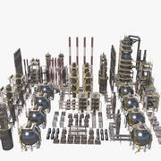Refinería de petróleo modelo 3d