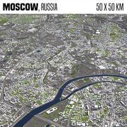 Moscou Russie 50x50km 3d model