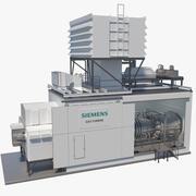 Siemens Gas Turbine Package 3d model