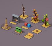 Городская улица 3d model