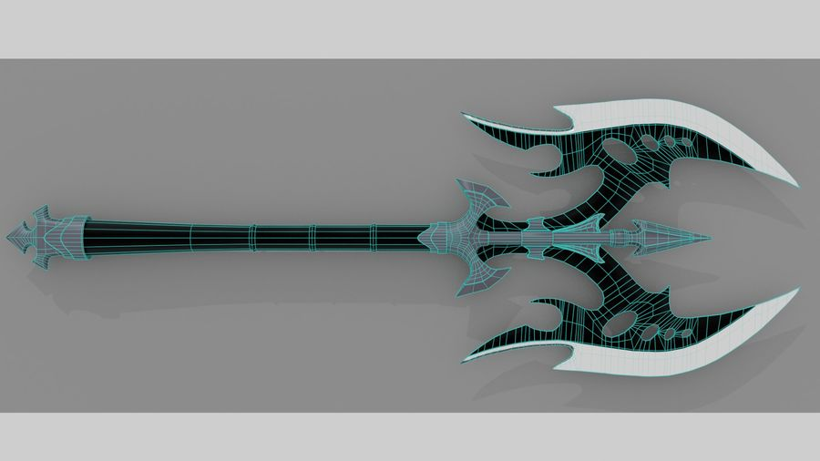 Battle Axe royalty-free 3d model - Preview no. 10