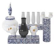 Делфт синие вазы 02 3d model