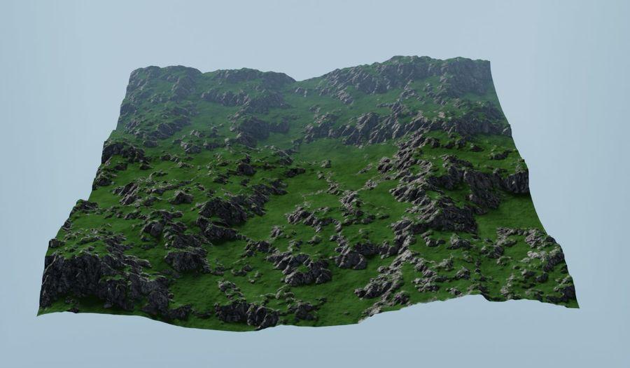 Горный Камень Трава Пейзаж royalty-free 3d model - Preview no. 2