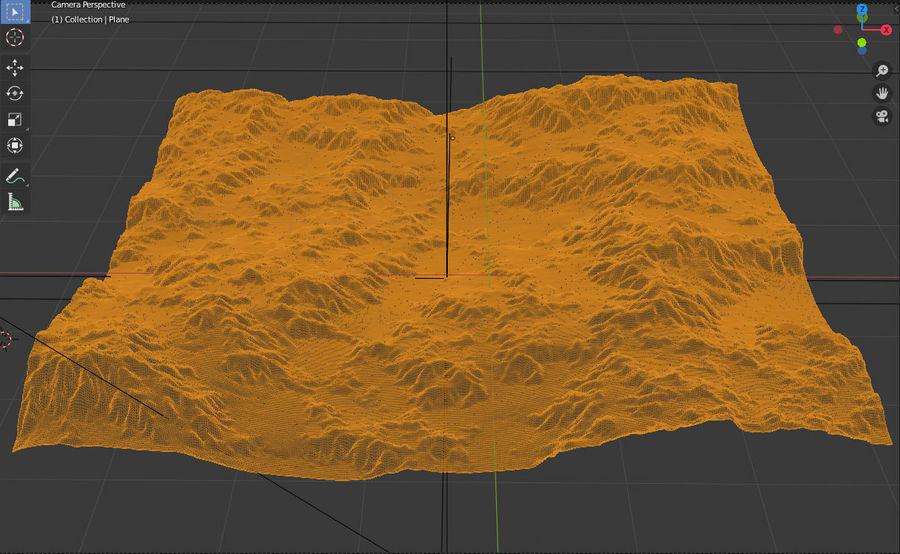 Горный Камень Трава Пейзаж royalty-free 3d model - Preview no. 5