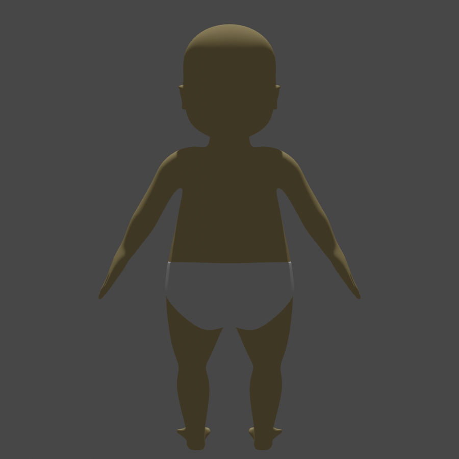 baby royalty-free 3d model - Preview no. 4