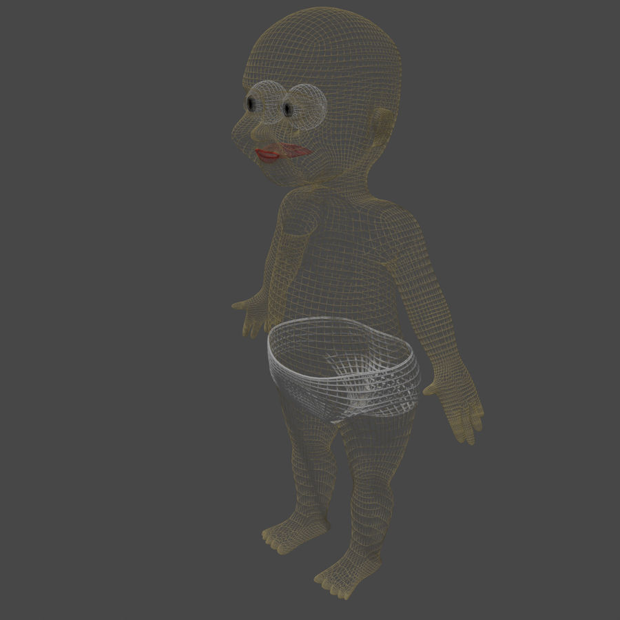 baby royalty-free 3d model - Preview no. 5
